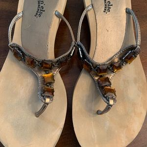 Amber stone sandals by Skechers